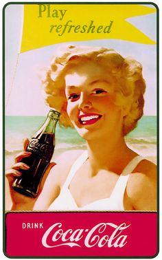 Illustrations vintage Coca-Cola Coca Cola Poster, Coca Cola Ad, Always Coca Cola, Coca Cola Bottles, Pepsi, Coca Cola History, World Of Coca Cola, Vintage Advertisements, Vintage Ads