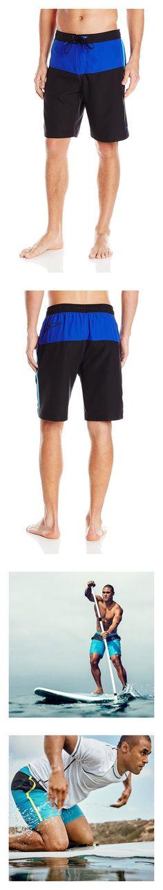 c4f04f601e $19.98 - Speedo Men's Long Bay e-Board 21-inch Swim Trunks Black/