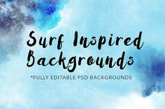 Surf Inspired Backgrounds Vol. 1 by Diane Pascual on @creativemarket