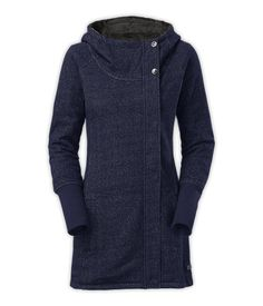 The North Face Women's Jackets & Vests FLEECE LIFESTYLE WOMEN'S PSEUDIO JACKET, I need this coat!!!!! <3 <3 <3