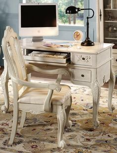 Winslow Computer/Writing Desk - Computer Desks - Home Office Furniture - Furniture | HomeDecorators.com #HomeDecorators  Great desk for use in the guest room that doubles as an office space.