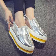... туфли на высоком каблуке бездельник с толстым дном склоне Jiehao обувь  сладкие булочки нижние Shoes33 в категории Кроссовки для женщин на  AliExpress. 727482b9e53