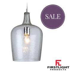 FIRSTLIGHT 1 LIGHT GLASS PENDANT LIGHT, CLEAR - 2301CL None