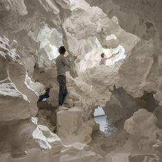 Inside Switzerland's Venice Architecture Biennale pavilion, architect Christian Kerez built an inhabitable structure featuring a cloud-like exterior and a cavernous interior.