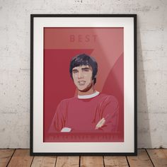 Manchester United George Best print poster for football fans