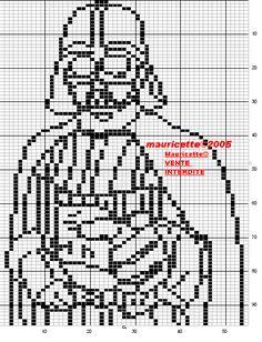 Star Wars Dart Vader perler bead pattern by Mauricette
