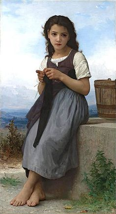 La Tricoteuse (The Little Knitter),1884 | Bouguereau | Private Collection