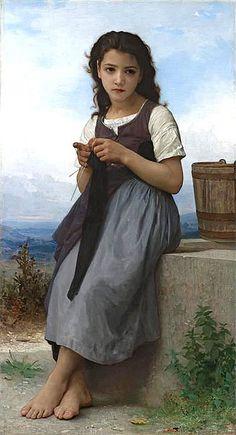 La Tricoteuse (The Little Knitter),1884 | Bouguereau | Private Collection