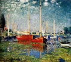 THE RED BOATS- MONET