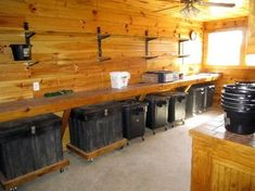 back wall should have feed bins under counter next to washer dryer stack and utility sink Horse Barn Plans, Horse Barns, Horse Stables, Show Cattle Barn, Horse Shelter, Animal Shelter, Tack Room Organization, Horse Tack Rooms, Barn Storage