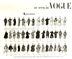 As seen in Vogue, a vintage spread of Aquascutum from the 1950s.
