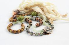 Mala Stil Kette mit Sari Seidenquaste und Halbedelsteinen von FrolleinHerzblut auf Etsy