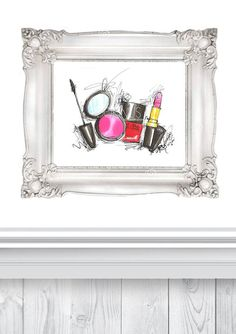With Makeup - Art Print, all your favorite makeup accessories will always be close at hand! FYI! Features original design by artist. Printed on high quality 250g/m2 and 100% matte white etching paper,