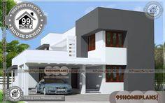 Best House Plans for Narrow Lots Best Modern House Design, Latest House Designs, Small House Design, New Home Designs, Cool House Designs, Best House Plans, Modern House Plans, Small House Plans, House Floor Plans