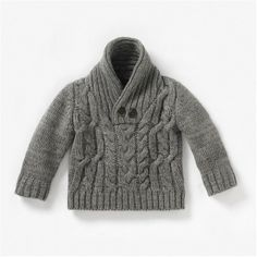 Baby Boy's Shawl Collar Sweater (la redoute) Baby Cardigan, Shawl Collar Sweater, Baby Outfits, Kids Outfits, Knitting For Kids, Baby Knitting, Baby Patterns, Knit Patterns, Pull Bebe