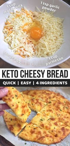 Keto Cheesy Garlic Breadsticks (4 Ingredients) - Instrupix