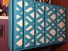 Painted dresser , paint drawers, tape, paint again. love it