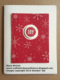 Craftastic Days with Stacy: Hello December Mini Book and Cards; #stampinup; #holidaycatalog2015; #projectlife; Hello December 2015 Project Life Card Collection; Quick Christmas card