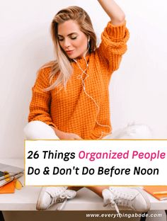 Do you wake up in the morning feeling like you don't have enough time to get organized? Do you ever catch yourself rushing about trying to recall what you need to do? Since our mornings can be hurried and chaotic, they really do set the stage for the rest of the day, so if this... Read More » The post 26 Things Organized People Do & Don't Do Before Noon appeared first on Everything Abode. Best Plants For Bedroom, Bedroom Plants, Miserable People, Happy People, Brain Dump, How To Wake Up Early, Staying Organized, Get Up, Organization