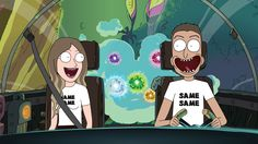 Drew me and my boyfriend like Rick and Morty! :) #rickandmorty #art #rick #morty #cartoon