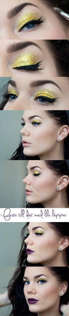 Love the sparkling yellow eyeshadow.