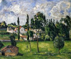 Landscape with Waterline, 1879, Paul Cezanne Size: 46x56 cm Medium: oil on canvas