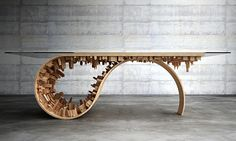 mousarris extends vision for 'wave city' with brain-bending dining table