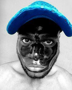 Man, Masker & Cap 🔵 #the_512thmansjournal #blackandwhitephotography #cap #mask #mensstyle #menswear #men's fashion #model #black men