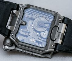 """URWERK EMC Watch Hands-On - Read how it works, see the photo gallery, and watch Ariel's hands-on video on aBlogotWatch """"When we debuted the Uwerk EMC watch back at the end of August 2013 I have to admit that I thought it was a rather silly concept. I mean, I understood it well enough, and appreciated the innovation..."""""""