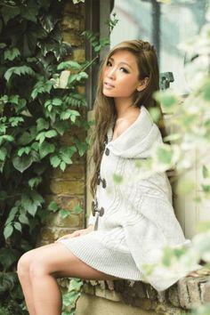 me Jane(ミージェーン)【予約販売/NEWSPAPER掲載】ケーブルニットポンチョ