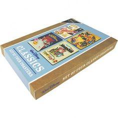 Walt Disney Classics - Set of 4 Retro Coasters including Cinderella, Dumbo, Alice in Wonderland and Aristocats Disney http://www.amazon.co.uk/dp/B00UXHQRNE/ref=cm_sw_r_pi_dp_XEZYwb07V7P5X