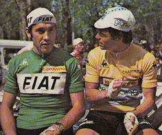 Eddy Merckx and Bernard Hinault
