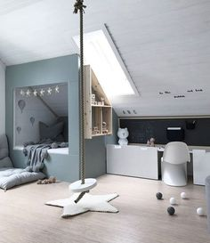 Children's room under the roof. - Children's room design - Children's room under the roof. – Children's room design - Attic Rooms, Attic Spaces, Kid Spaces, Attic Loft, Attic Bathroom, Girls Bedroom, Bedroom Decor, Attic Bedroom Kids, Bedroom Ideas