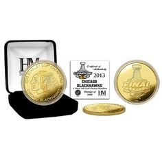 Chicago Blackhawks 2013 NHL Stanley Cup Final Champions 24kt Gold Coin