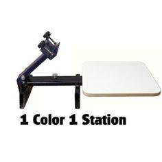 Screen Printing Press 1 Color 1 Station
