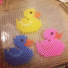 Ducks hama perler beads by madurska