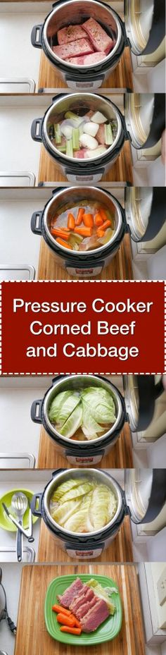 Pressure Cooker Corned Beef and Cabbage – done in about an hour and a half, thanks to the pressure cooker. Perfect for St. via Source by dadcooksdinner Pressure Cooker Corned Beef, Power Pressure Cooker, Instant Pot Pressure Cooker, Pressure Pot, Pressure Cooking Recipes, Slow Cooker Recipes, Beef Recipes, Healthy Recipes, Sirloin Recipes