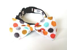 Bowtie Collar Colorful Dot by usagiteam on Etsy, $24.00