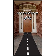 How fun is this for a race theme party? Racetrack Runner (poly w/double-stick tape) Party Accessory  (1 count) (1/Pkg)