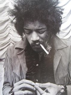 Jimi Hendrix (born Johnny Allen Hendrix) musician, singer-songwriter. He is considered one of the most influential electric guitarists, and one of the most important musicians of the 20th century. He was instrumental in developing the technique of guitar amplifier feedback and favored overdriven amplifiers with high volume. He helped popularize the use of the wah-wah pedal in mainstream rock and pioneered experimentation with stereophonic phasing effects in rock music. R.I.P.