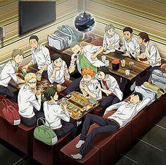 Manga Haikyuu, Haikyuu Karasuno, Haikyuu Funny, Haikyuu Fanart, Anime Manga, Anime Guys, Otaku, Hinata, Tsukkiyama