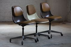 Scarce #Eames Mid Century Modern PSCC-A-3 Swivel Pivot Shell Chair for Herman Miller (U.S.A., 1962) | by Kennyk@k2modern.com