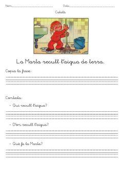 Comprensio materiales en catalan_24 Catalan Language, Teacher, Activities, Writing, Comics, Reading, Muhammad, Kids Psychology, Frases