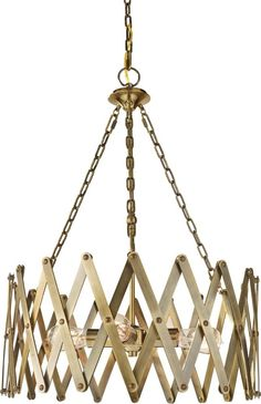 Feiss ND-F2902/4BLB, Hugo Large Round Pendant, 4 Light, 400 Total Watts, Brass