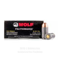 Wolf 9mm Makarov Ammo - 1000 Rounds of 94 Grain FMJ Ammunition  #Wolf #WolfAmmo #9mmAmmo #9mmMakarov #FMJ