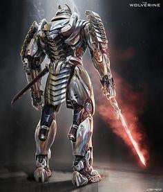 Silver Samurai Back - Marvel