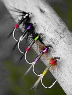 Nice collection of neon steelie flies