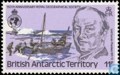 Postage Stamps - British Antarctic Territory - Geographical society
