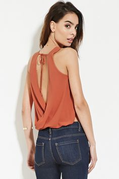 Contemporary Twisted-Back Top