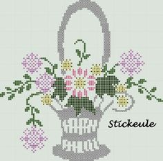 Gallery.ru / Фото #1 - flores - saudades Cross Stitch Charts, Cross Stitch Patterns, Vintage Embroidery, Embroidery Designs, Christmas Jars, Freebies, Bargello, Cross Stitch Flowers, Cross Stitching